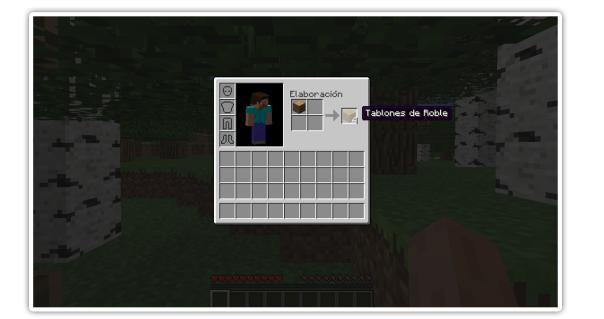 Primer d a en minecraft veneet mc - Tablones de roble ...